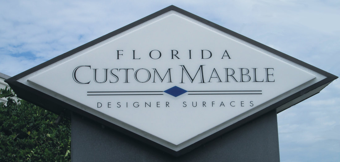 Florida Custom Marble logo and sign
